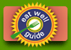 Image link to a green lifestyle resource: Eat Well Guide.